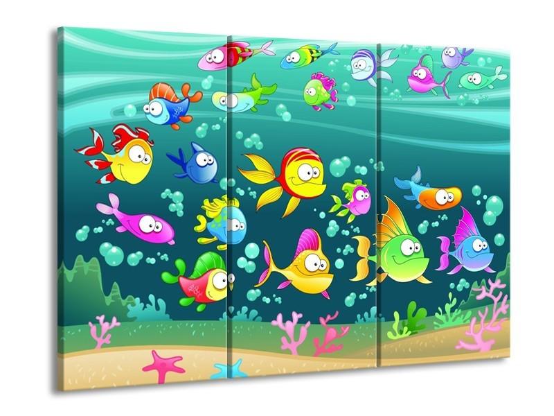 Glas schilderij Sprookje | Groen, Blauw, Paars | 90x60cm 3Luik