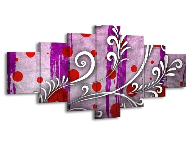 Glas schilderij Art | Paars, Grijs, Rood | 210x100cm 7Luik