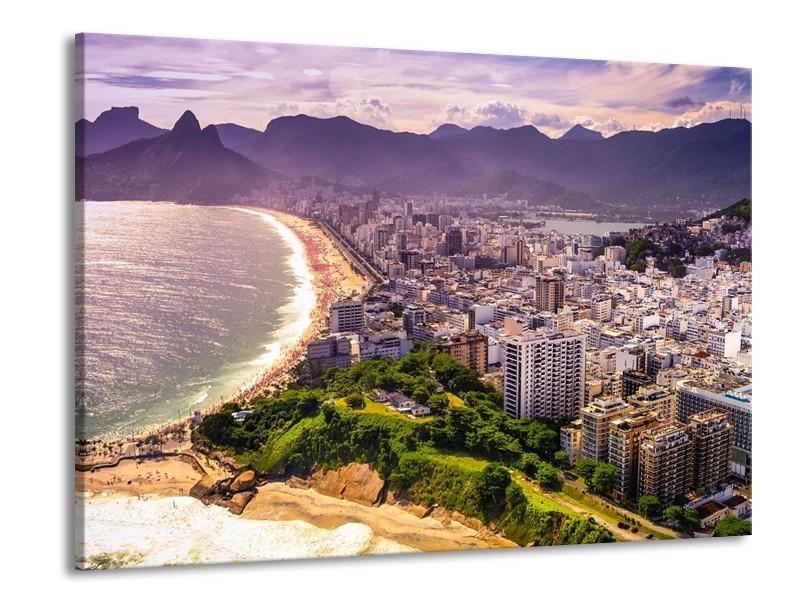 Canvas schilderij Uitzicht | Grijs, Groen | 100x70cm 1Luik