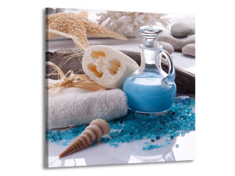 Glas schilderij Spa | Blauw, Wit | 70x70cm 1Luik
