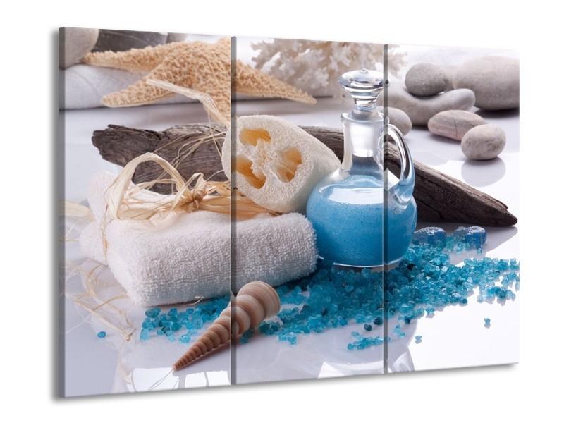 Glas schilderij Spa | Blauw, Wit | 90x60cm 3Luik
