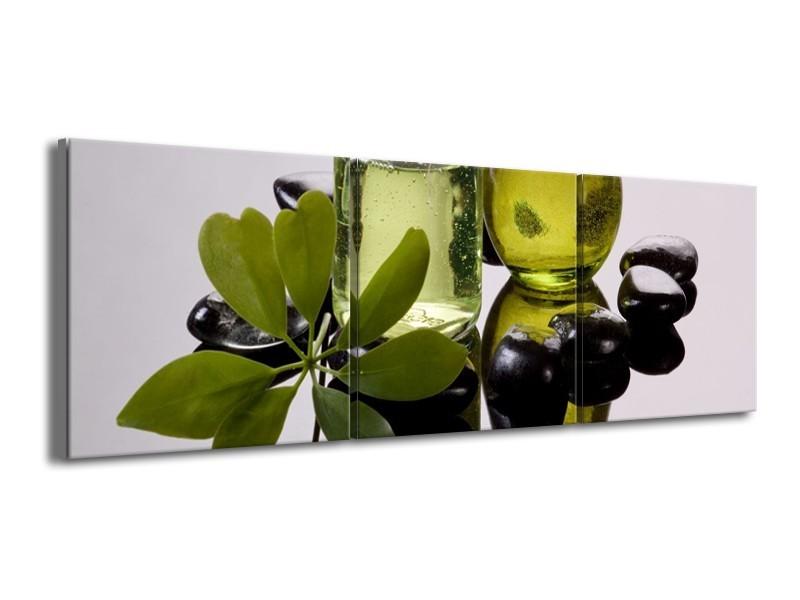 Glas schilderij Olijven | Groen, Grijs | 150x50cm 3Luik