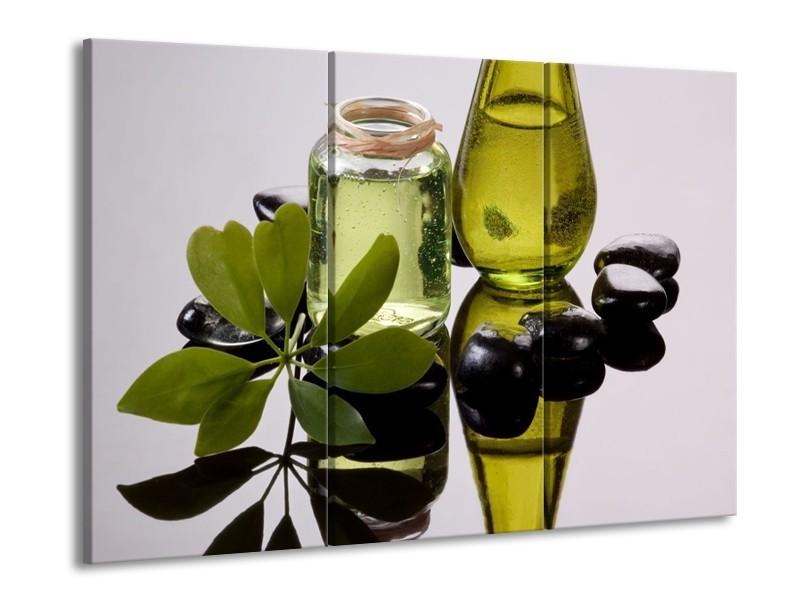 Glas schilderij Olijven | Groen, Grijs | 90x60cm 3Luik