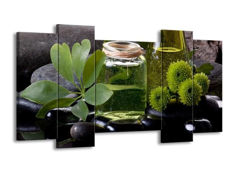 Glas schilderij Olijven | Groen, Zwart | 120x65cm 5Luik