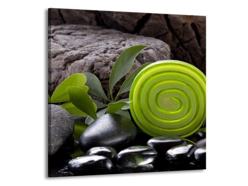 Canvas schilderij Spa | Groen, Zwart | 70x70cm 1Luik