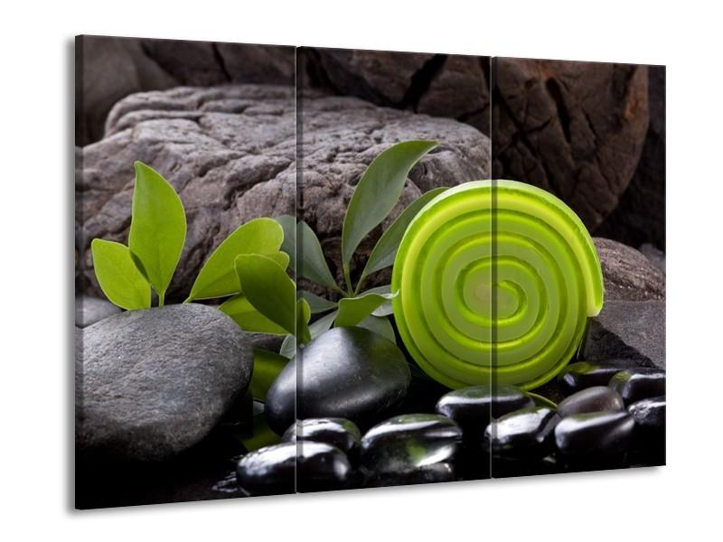 Glas schilderij Spa | Groen, Zwart | 90x60cm 3Luik