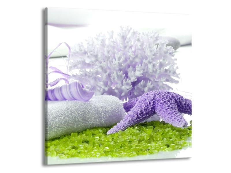 Glas schilderij Spa | Paars, Groen, Wit | 70x70cm 1Luik