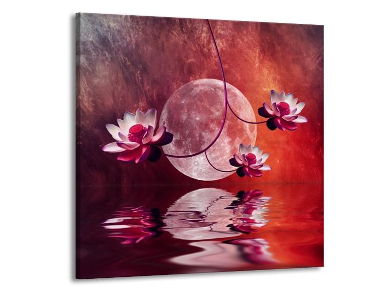 Canvas schilderij Modern   Rood, Paars, Roze   70x70cm 1Luik