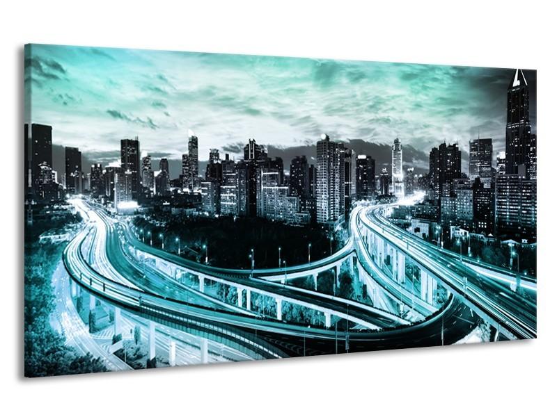 Canvas schilderij Brug | Blauw, Grijs | 190x100cm 1Luik