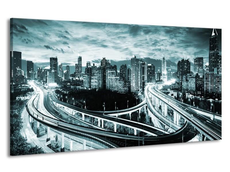 Canvas schilderij Brug | Groen, Grijs | 190x100cm 1Luik