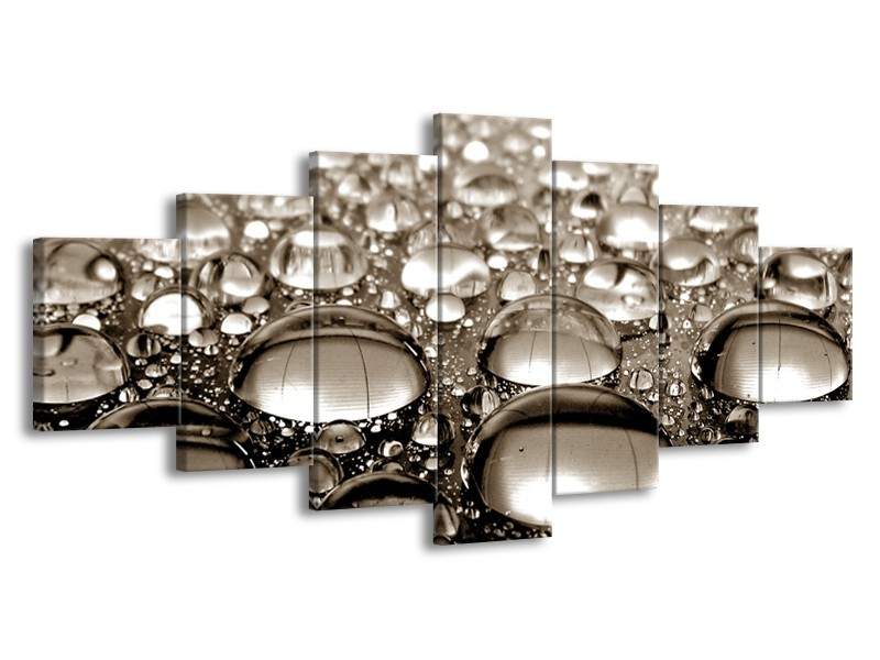 Glasschilderij Macro | Sepia | 210x100cm 7Luik