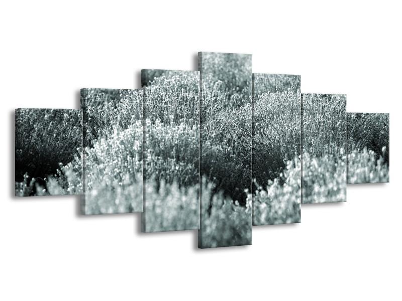 Glasschilderij Bloemen | Grijs, Groen | 210x100cm 7Luik