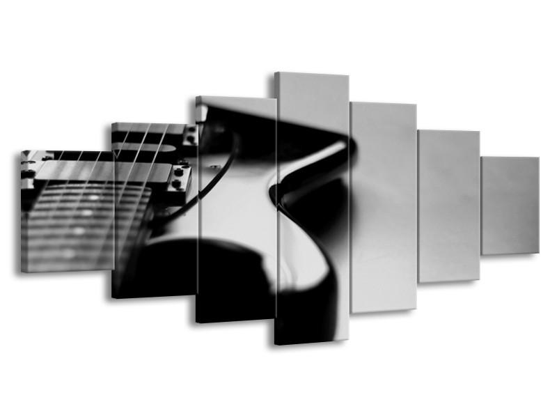 Glasschilderij Muziek   Grijs, Zwart   210x100cm 7Luik
