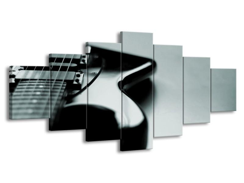 Glasschilderij Muziek   Grijs, Zwart, Groen   210x100cm 7Luik