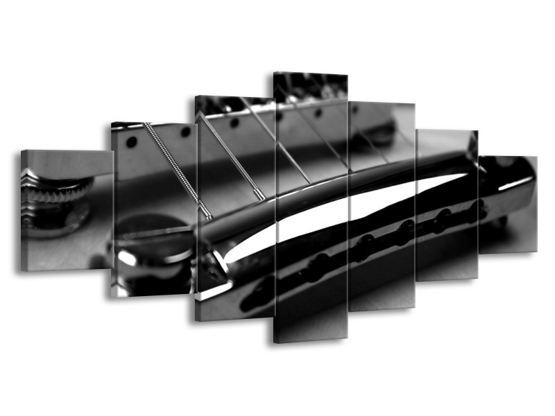 Glasschilderij Muziek   Zwart, Grijs   210x100cm 7Luik