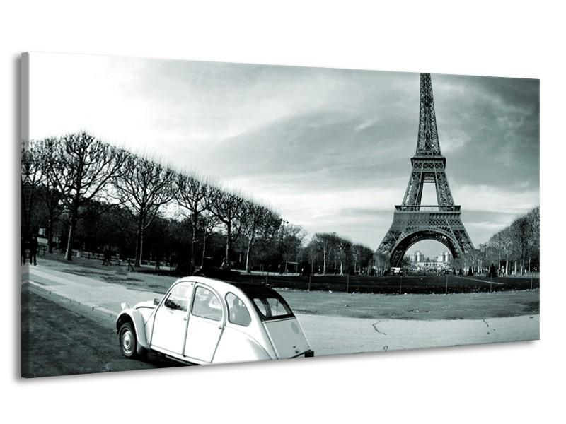 Canvas Schilderij Steden, Parijs | Grijs, Groen | 170x90cm 1Luik