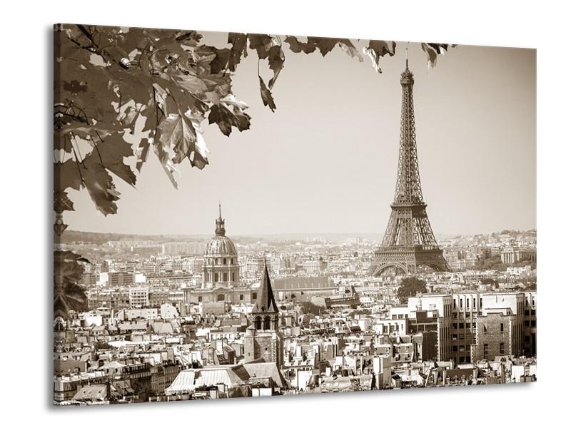 Glasschilderij Parijs, Steden | Sepia | 100x70cm 1Luik