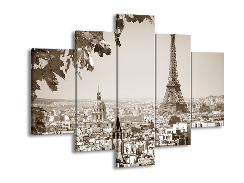 Glasschilderij Parijs, Steden | Sepia | 150x105cm 5Luik
