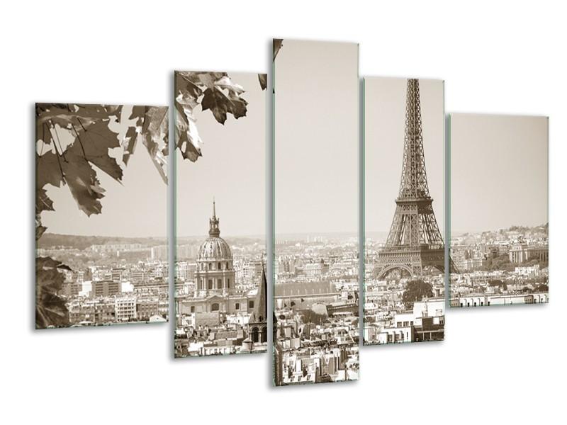 Glasschilderij Parijs, Steden | Sepia | 170x100cm 5Luik