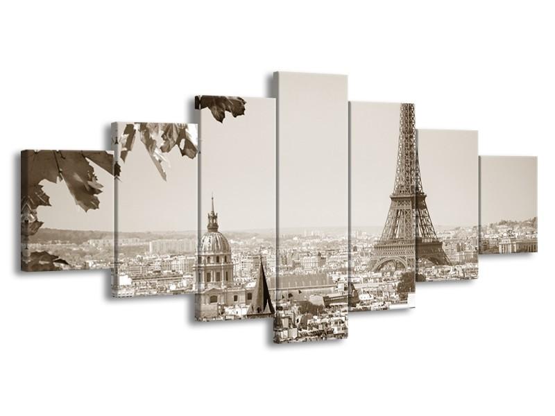 Glasschilderij Parijs, Steden | Sepia | 210x100cm 7Luik