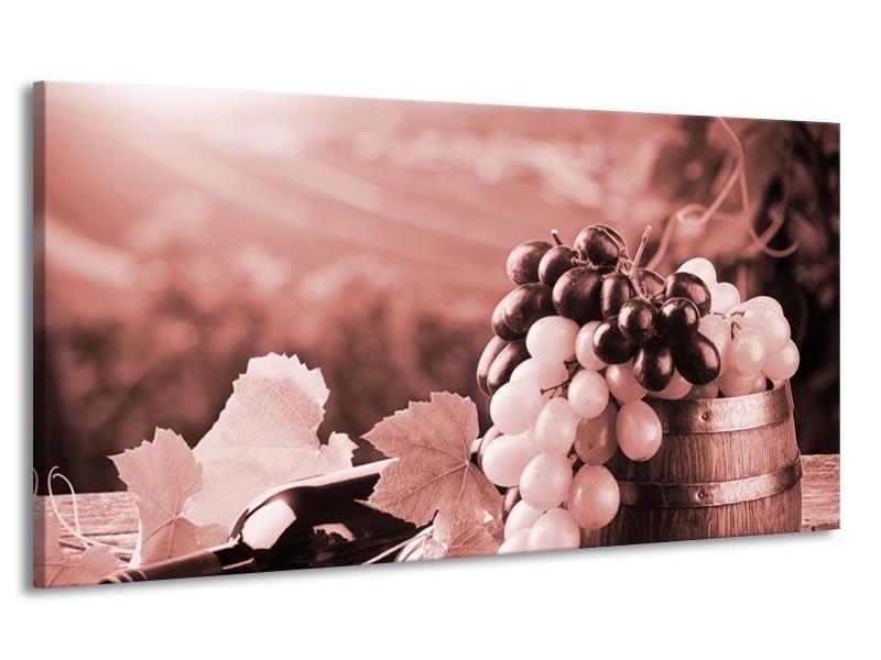 Canvas Schilderij Druiven, Keuken | Bruin, Rood | 170x90cm 1Luik