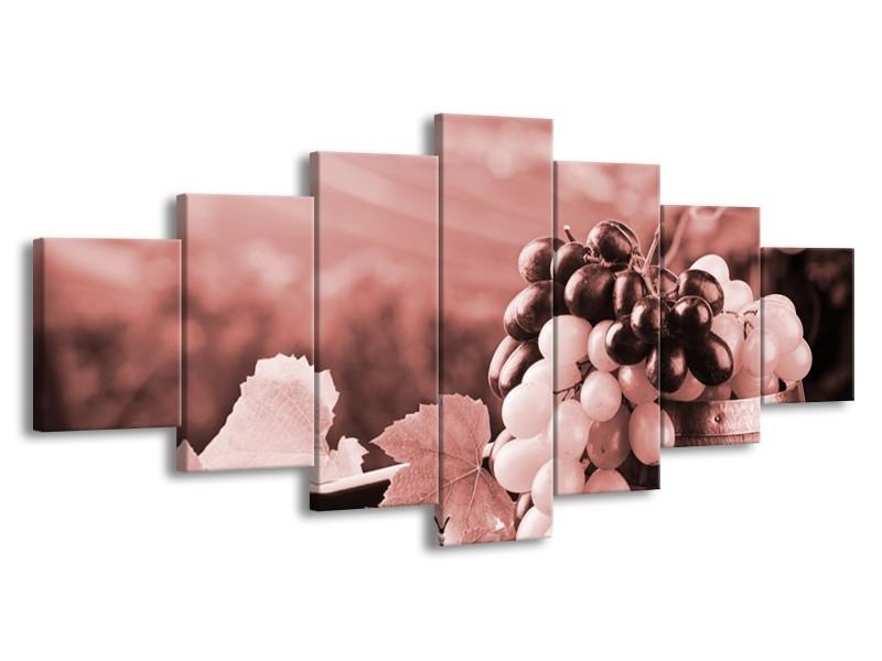 Glasschilderij Druiven, Keuken | Bruin, Rood | 210x100cm 7Luik