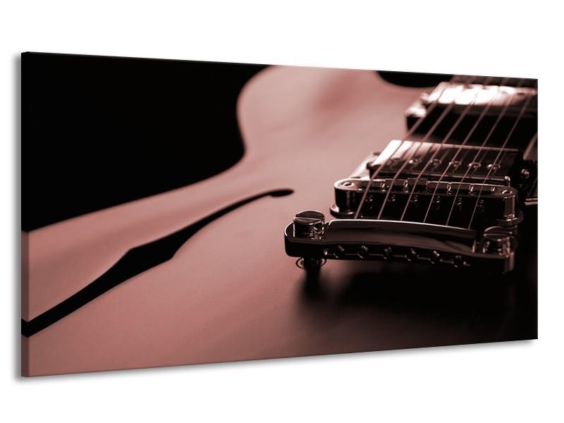 Canvas Schilderij Muziek | Bruin, Rood | 170x90cm 1Luik