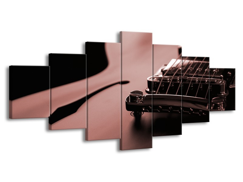 Glasschilderij Muziek   Bruin, Rood   210x100cm 7Luik