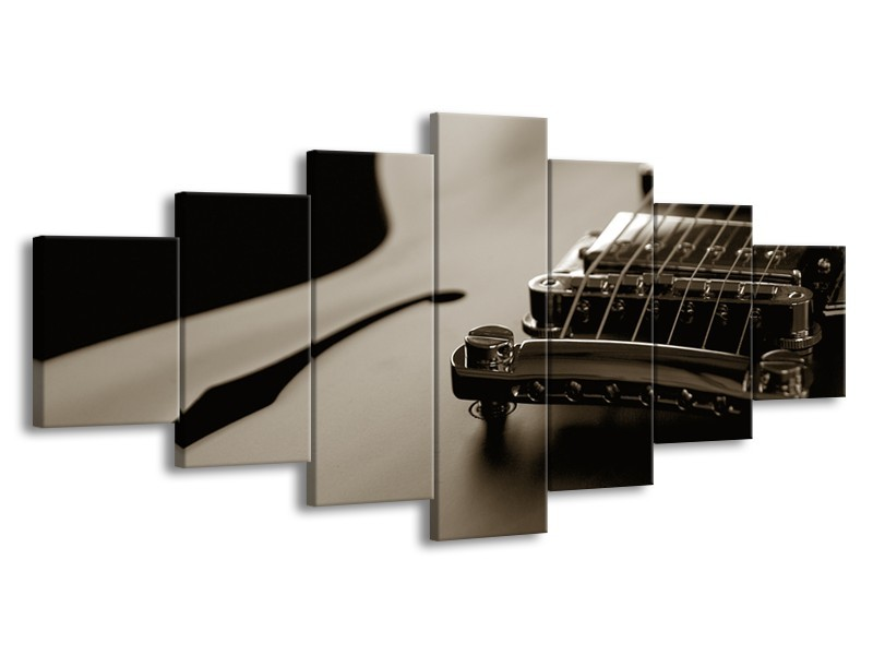 Glasschilderij Muziek   Sepia   210x100cm 7Luik