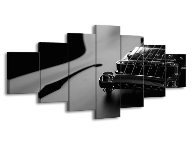 Glasschilderij Muziek | Zwart, Grijs | 210x100cm 7Luik