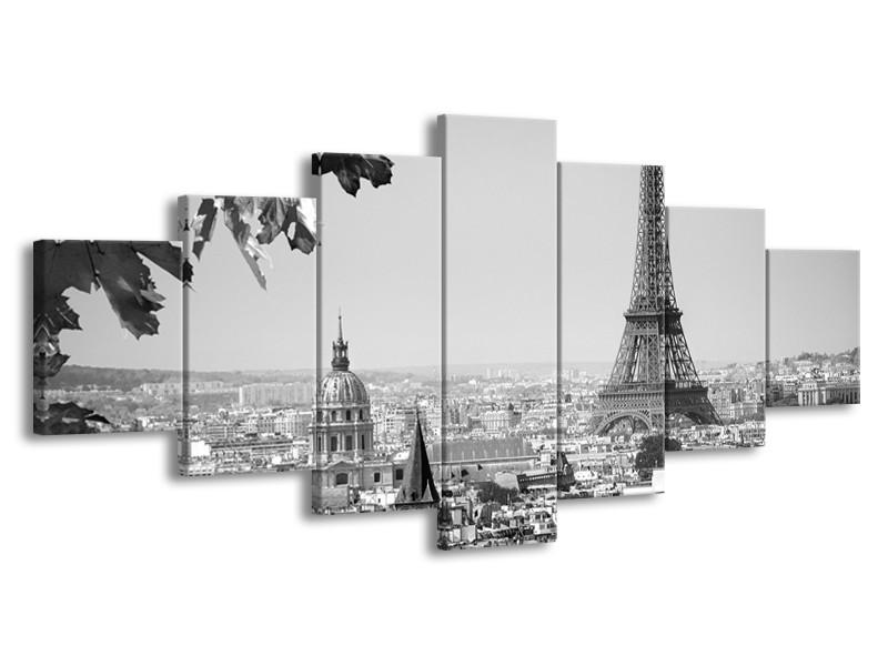 Glasschilderij Parijs, Steden | Zwart, Grijs | 210x100cm 7Luik