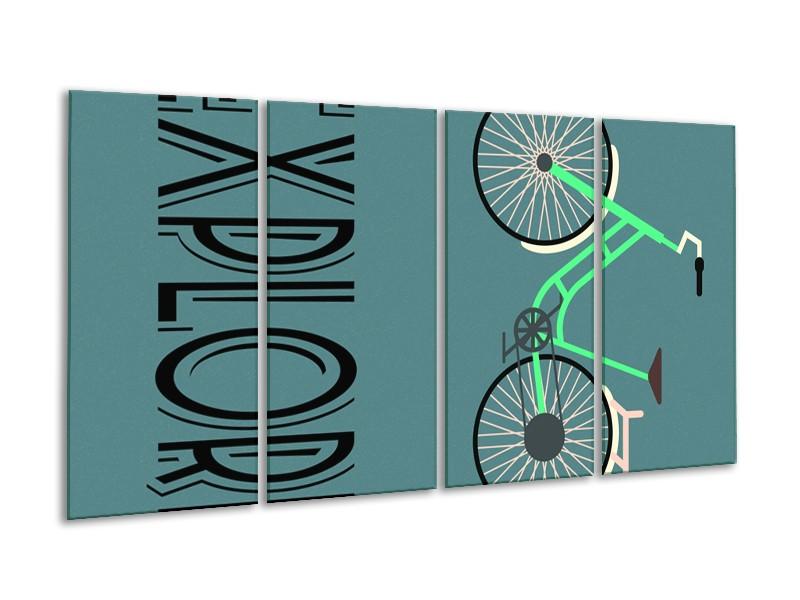 Glasschilderij Tekst   Groen, Zwart   160x80cm 4Luik
