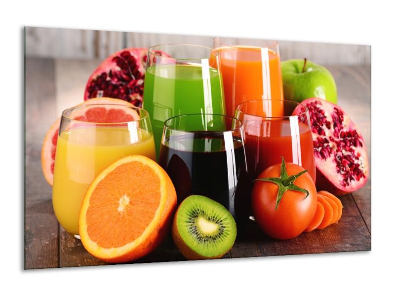 Glasschilderij Groenten, Fruit   Oranje, Geel, Groen   120x70cm 1Luik