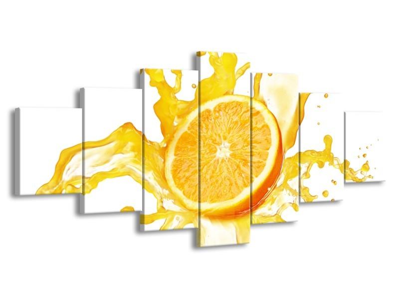 Glasschilderij Fruit, Keuken | Geel, Wit | 210x100cm 7Luik