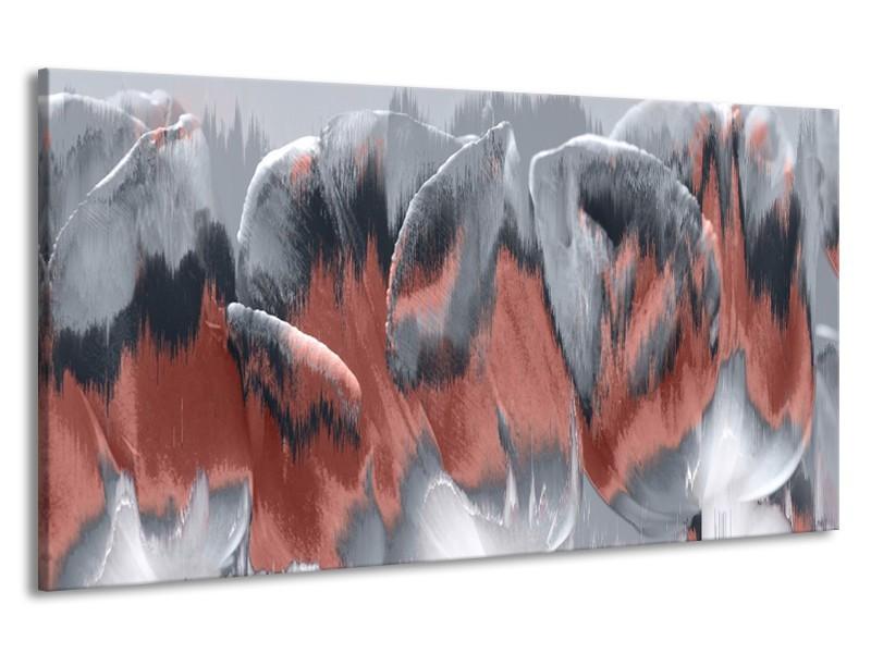 Canvas Schilderij Modern    Grijs   190x100cm 1Luik