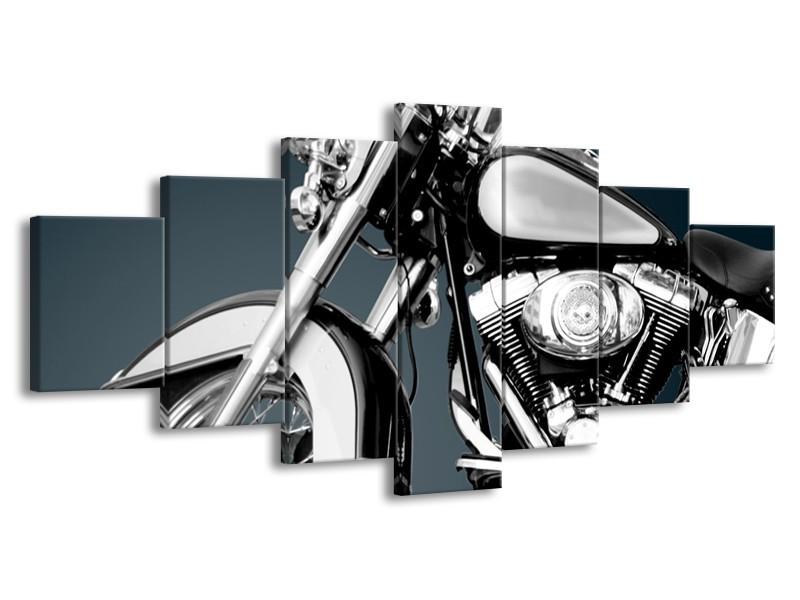 Glasschilderij Motor | Grijs, Zilver | 210x100cm 7Luik