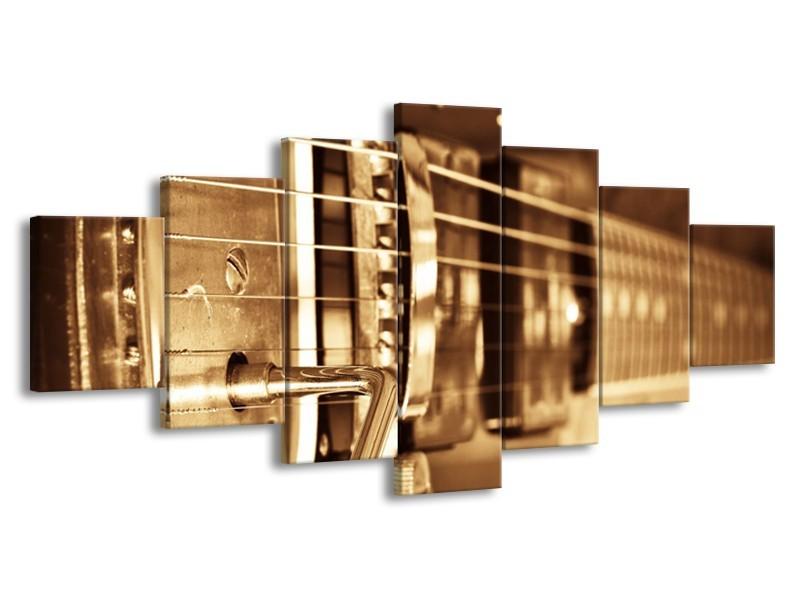 Glasschilderij Muziek | Goud, Bruin | 210x100cm 7Luik