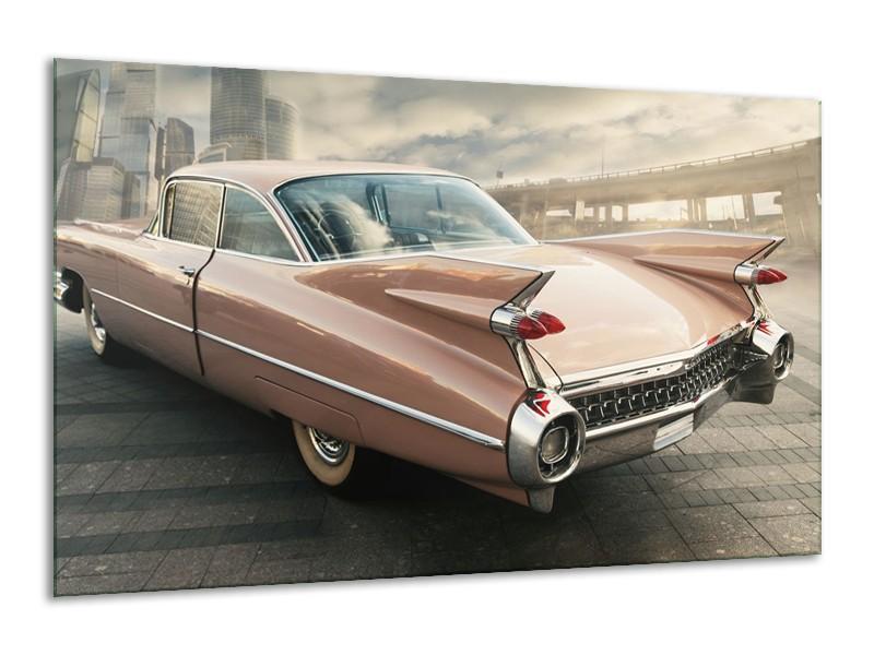 Canvas Schilderij Oldtimer, Auto | Bruin, Grijs | 120x70cm 1Luik
