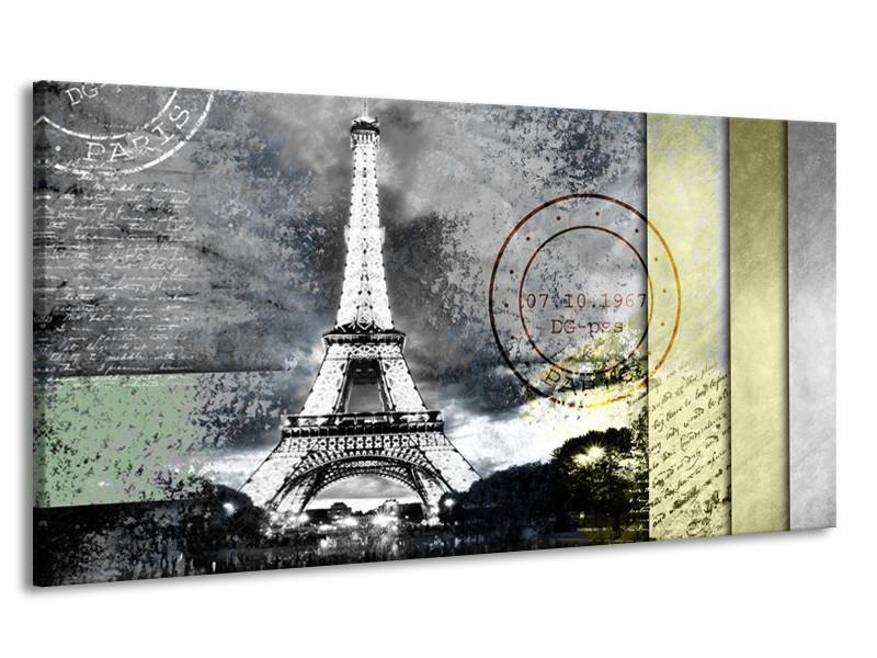 Canvas Schilderij Parijs, Eiffeltoren | Grijs | 170x90cm 1Luik