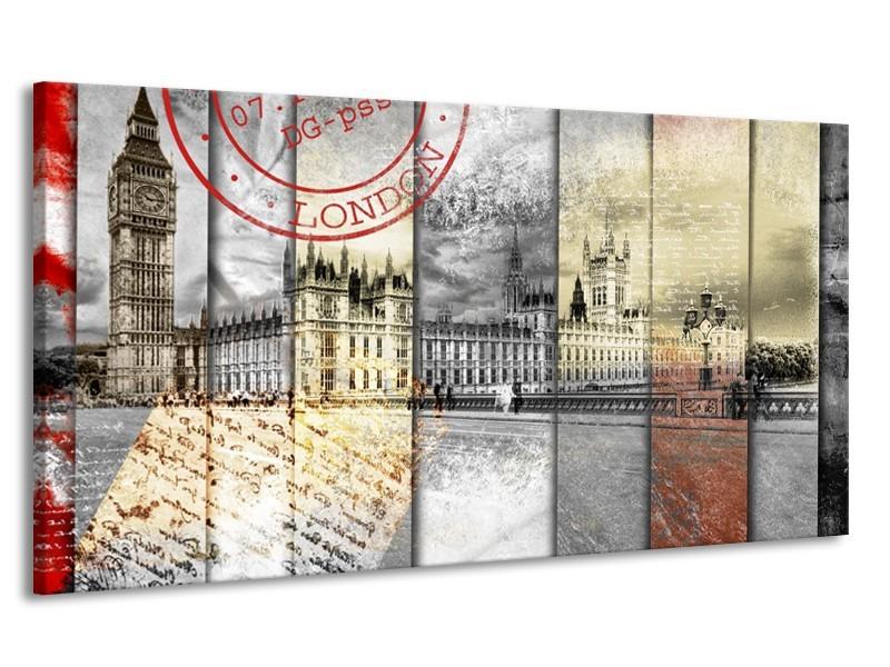 Canvas Schilderij Engeland, London | Grijs | 170x90cm 1Luik