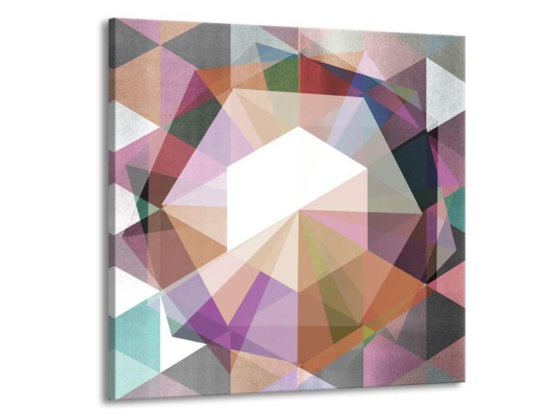 Canvas Schilderij Design   Paars, Grijs   50x50cm 1Luik