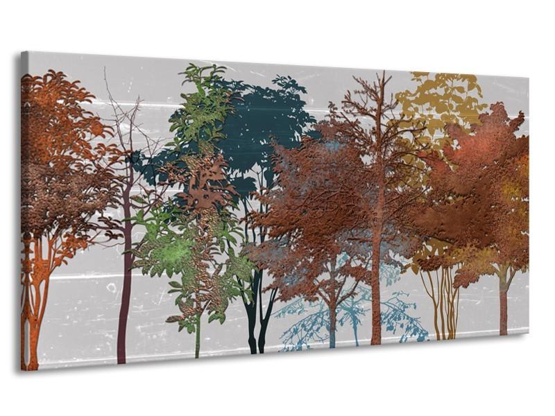 Canvas Schilderij Natuur   Grijs, Bruin   170x90cm 1Luik