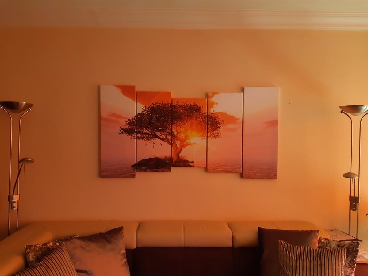Canvas klok 5luik SchilderijenArt GroepArt
