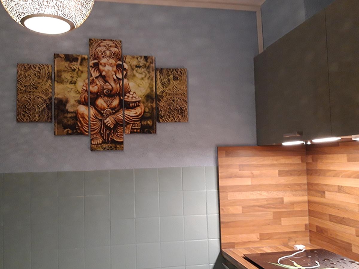 Canvas schilderij 5 luik GANESHA GroepArt