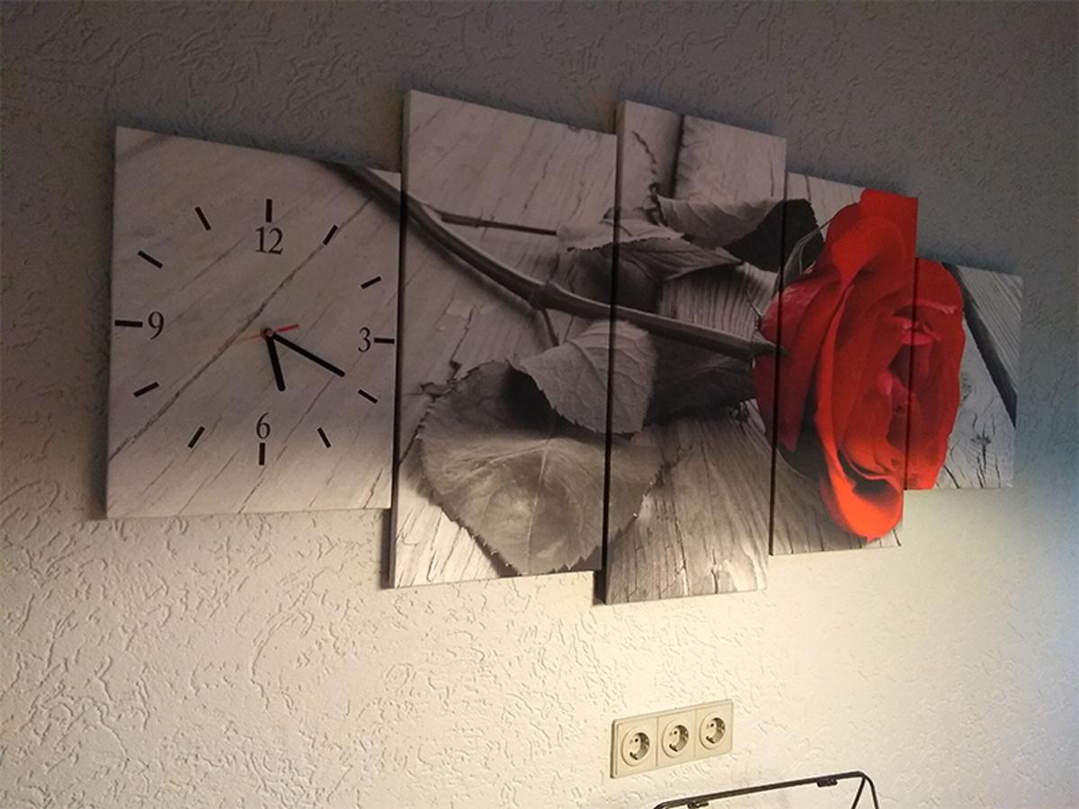 Klok op canvas schilderij 5 luik GroepArt