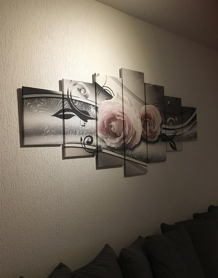 Canvas schilderij 7 luik ROOS GroepArt
