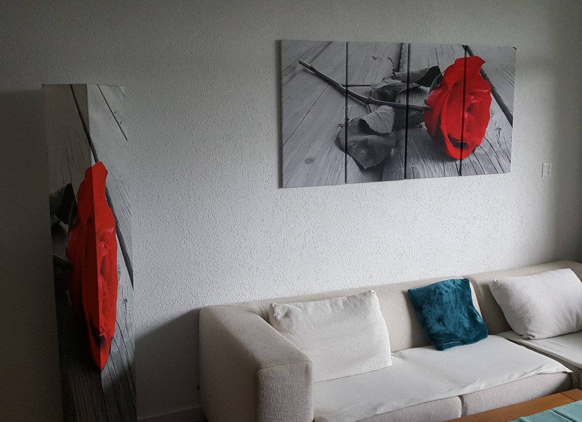 rode roos schilderij